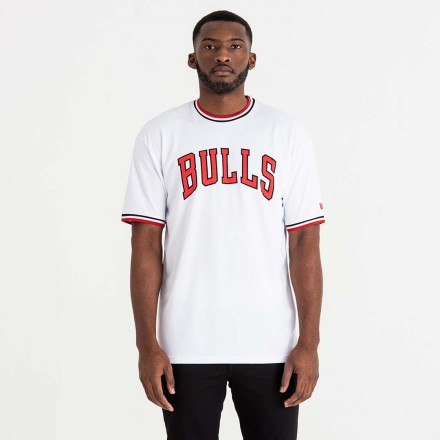 NEW ERA NBA TIPPING WORDMARK TEE CHIBUL WHI