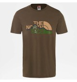 THE NORTH FACE M S/S MOUNT LINE TEE NEW TAUPE