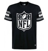 NEW ERA NFL BADGE TEE OAKRAI BLK