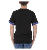 NEW ERA NBA STRIPE TEE GOLWAR BLK
