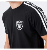 NEW ERA NFL RAGLAN SHOULDER PRINT TEE OKARAI BLK
