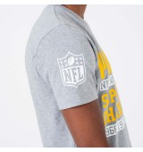 NEW ERA NFL LARGE GRAPHIC TEE GREPAC LGH