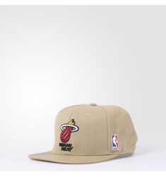 ADIDAS NBA BBRIM HEAT   HEMP/RIORED