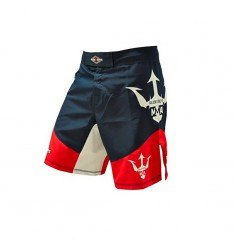 RUDEBOYS FIGHT SHORT RB NEPTUNE   NEGRO/ROJO