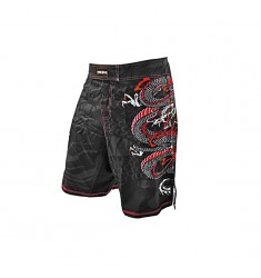 RUDEBOYS FIGHT SHORT RB DRAGON   NEGRO/ROJO