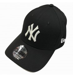 NEW ERA 39THIRTY LEAGUE BASIC NEYYAN   BLACK/WHITE