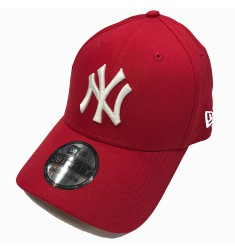 NEW ERA 39THIRTY LEAGUE BASIC NEYYAN   SCARLET/WHITE