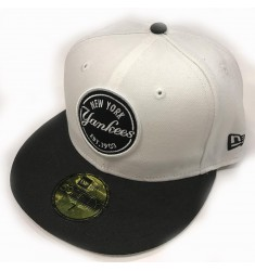 NEW ERA EMBLEM ROUND PATCH NEYYAN WHIBLK