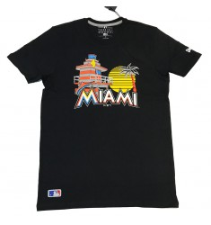 NEW ERA MBL LOCATION TEE 2 MIAMAR BLK