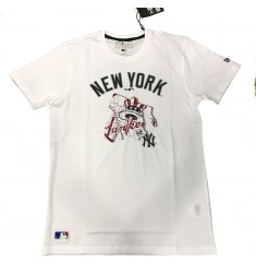 NEW ERA MBL LOCATION TEE 2 NEYYAN WHI