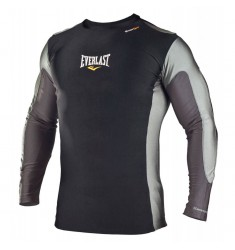 EVERLAST LONG SLEEVE RASH GUARD - BLACK